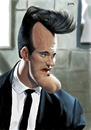 Cartoon: Quentin Tarantino (small) by szomorab tagged quentin,tarantino