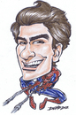 Cartoon: andrew garfield spider-man (small) by dumo tagged andrew,garfield,spider,man,spiderman,comics,caricature,color