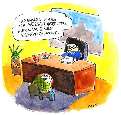 Cartoon arbeiten medium by ari tagged chef schreibtisch mann büro