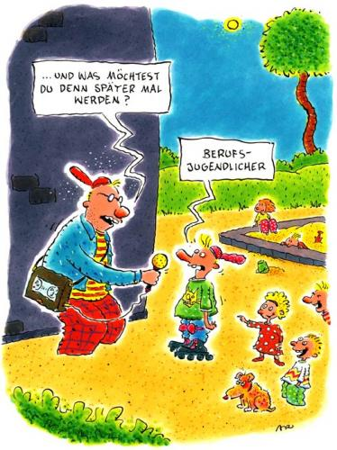 Cartoon beruf medium by ari tagged ausbildung interview medien