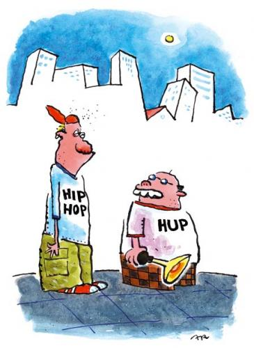 Cartoon: hup (medium) by ari tagged hiphup