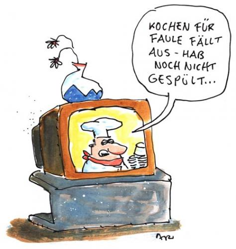 Cartoon: Kochsendung (medium) by ari tagged cook,tv,