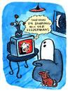 Cartoon: Fledermaus (small) by ari tagged dracula,vampir,bram,stoker,geist,gespenst,grusel,horror,ari,plikat,tv,sendung