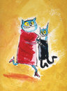 Cartoon: lets dance (small) by ari tagged katze,tanz,kater