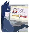 Cartoon: Batbook (small) by Wilmarx tagged batman dracul vampire internet