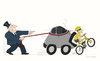 Cartoon: Autodog (small) by Wilmarx tagged transit,car,bike,violence,capitalism