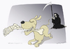 Cartoon: The Reaper attacked by a pet (small) by Wilmarx tagged death,animal,pet