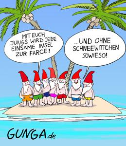 Cartoon: Insel (medium) by Gunga tagged insel