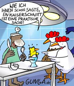 Cartoon: Kaiserschnitt (medium) by Gunga tagged kaiserschnitt