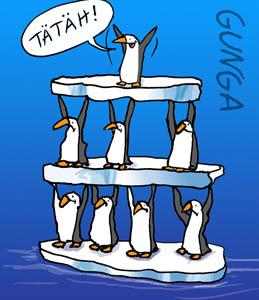 Cartoon: Pinguine (medium) by Gunga tagged pinguine