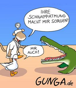 Cartoon: Schnappatmung (medium) by Gunga tagged schnappatmung