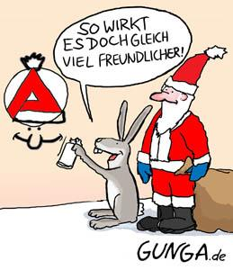 Cartoon: Weihnachtsmann (medium) by Gunga tagged weihnachtsmann