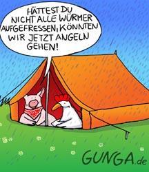 Cartoon Zelte