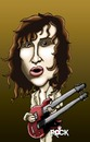 Cartoon: jimmy page (small) by mitosdorock tagged jimmy,page