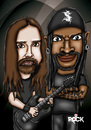 Cartoon: sepultura (small) by mitosdorock tagged sepultura,rock