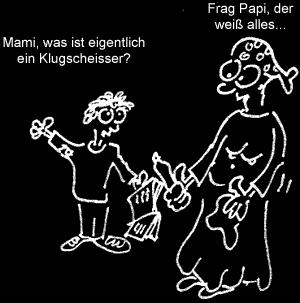 Cartoon: Papi (medium) by Newbridge tagged klugscheisser,papi,mensch,kind,frage,wissen