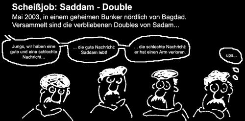 Cartoon: Sadam-Double (medium) by Newbridge tagged job,double,sadam,hussein