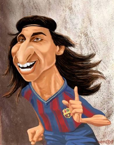 Zlatan Ibrahimovic von Senad | Berühmte Personen Cartoon | TOONPOOL
