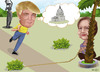 Cartoon: Trump and Hillary (small) by Senad tagged trump,hillary,senad,nadarevic,bosnia