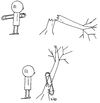Cartoon: Nadelholz (small) by Trantow tagged natur,unglück,mechanik,arzt,baum