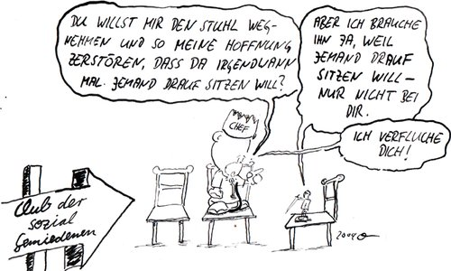 Cartoon: Club der sozial Gemiedenen 4 (medium) by kusubi tagged kusubi