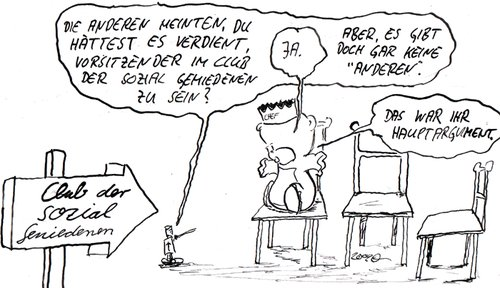 Cartoon: Club der sozial Gemiedenen (medium) by kusubi tagged kusubi