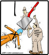 Cartoon: Bungee spatula (small) by cartertoons tagged bungee,fall,spatula,emergency