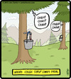 Cartoon: Cough Syrup (small) by cartertoons tagged cough,syrup,pine,trees,food,illness