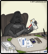 Cartoon: From the desk of Darth Vader (small) by cartertoons tagged darth vader office letter opener desk