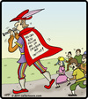 Cartoon: Pied Piper Followers (small) by cartertoons tagged pied piper hamelin children facebook twitter follow