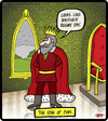 Cartoon: The king of puns (small) by cartertoons tagged kings kingdoms palace castle puns throne room rain reign