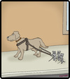 Cartoon: Three Blind Mice (small) by cartertoons tagged mice,dogs,blind,disabilities,animals