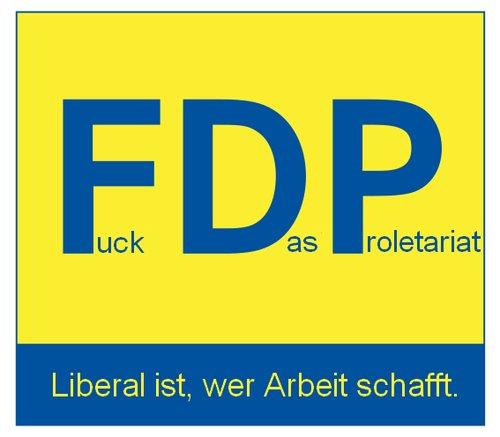 Cartoon: FuckDasProletariat (medium) by Fareus tagged fdp,politik,westerwelle,lobby,lobbyismus,demokratie