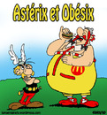 Cartoon: La capitulation (small) by sdrummelo tagged asterix obelix obesite hamburger mc donald france francia publicite