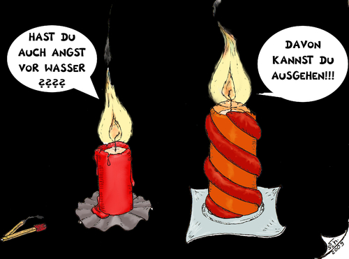 Cartoon: Kerzen (medium) by swenson tagged kerzen