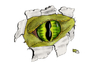 Cartoon: I can see YOU (small) by swenson tagged eye dragon drachen auge