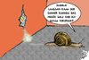Cartoon: Salzknappheit (small) by swenson tagged salz,winter,streusalz,knap,schnecke,snail,salt,schnee,eis,snow,ice,germany