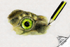 Cartoon: The eye of Speedy 2 (small) by swenson tagged animal animals reptil reptilien auge eye