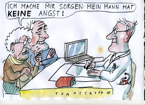 Cartoon: angstfrei (medium) by Jan Tomaschoff tagged angst,demenz,angst,demenz