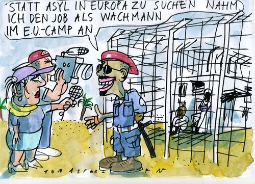 Cartoon: Asyl (medium) by Jan Tomaschoff tagged asyl,eu,migration,migration,eu,asyl
