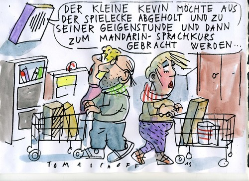 Cartoon: Bildung (medium) by Jan Tomaschoff tagged kinder,bildung,kinder,bildung
