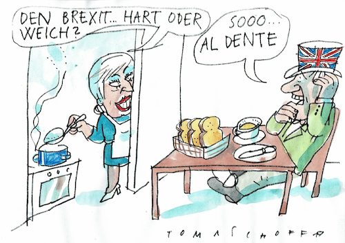 Cartoon: Brexit (medium) by Jan Tomaschoff tagged brexit,brexit