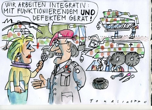 Cartoon: Bundeswehr (medium) by Jan Tomaschoff tagged technik,technik