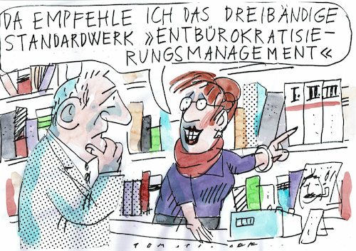 Cartoon Entbürokratisierung
