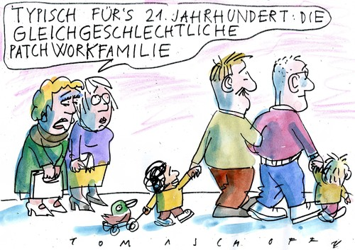 Cartoon: Familie (medium) by Jan Tomaschoff tagged homoehe,familie,homoehe,familie