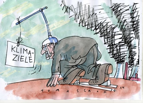Cartoon: Klimaziele (medium) by Jan Tomaschoff tagged klima,co2,klima,co2