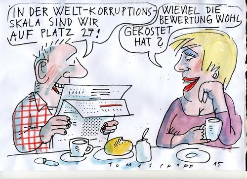 Cartoon: Korruption (medium) by Jan Tomaschoff tagged korruption,korruption