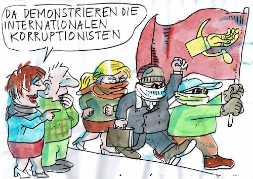 Cartoon: Korruptionisten (medium) by Jan Tomaschoff tagged betrug,korruption,wirtschaftskriminalität,betrug,korruption,wirtschaftskriminalität