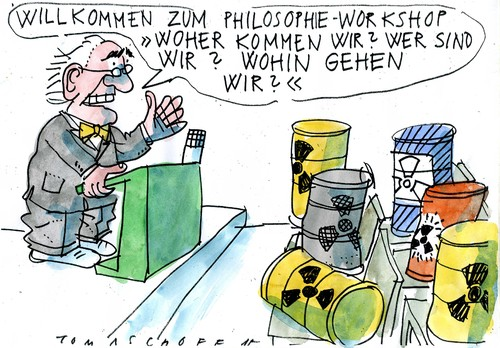 Cartoon: Müll (medium) by Jan Tomaschoff tagged atommüll,endlager,atommüll,endlager