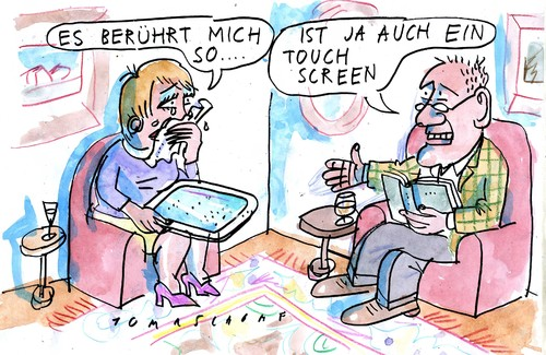 Cartoon: Rührend (medium) by Jan Tomaschoff tagged medien,pc,medien,pc